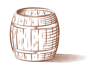 Vector beer or wine barrel