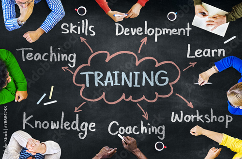 Diverse People Training Skills Workshop Concept