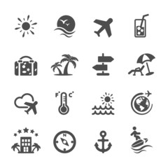 travel icon set, vector eps10
