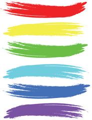 Colored brush strokes.