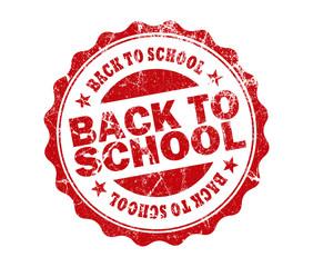 back school stamp