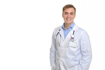 Portrait of an attractive and reliable doctor.