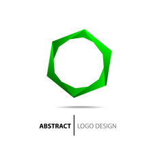 Abstract green circle. Logo template.