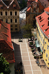Famous view over the rooftops of Graz