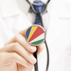 National flag on stethoscope conceptual series - Seychelles