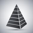 Vector layered pyramid icon