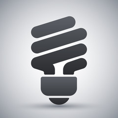 Vector saving light bulb icon