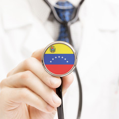 National flag on stethoscope conceptual series - Venezuela