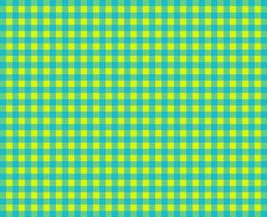 Tischdeckenmuster mit gelben und grünen Karos