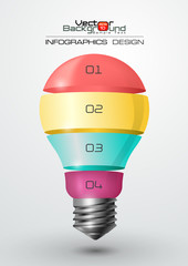Modern Infographic Template with Light Bulb