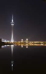 macau tower in macao macau china