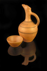 Clay pitcher from Georgia, typical handicrafts
