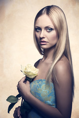 sensual woman with flower