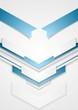 Abstract blue arrows tech design