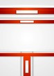 Red vector tech abstract background