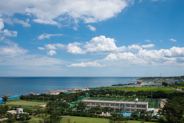 POHANG  - JULY 27, 2010: Sea seen from the observation deck.