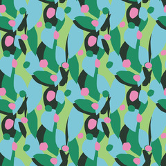 seamless pattern abstract flower
