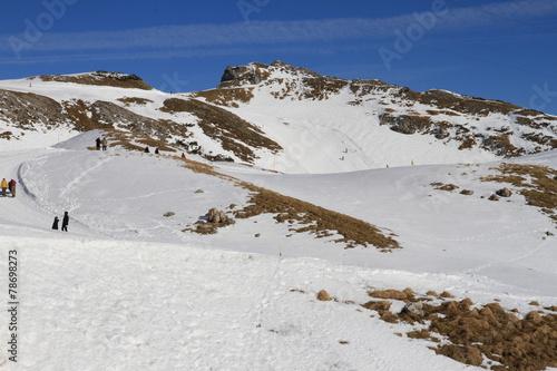 canvas print picture Wandern im Schnee