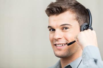 Customer Service Representative Speaking With Costumer