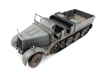 Half-track view from the top left