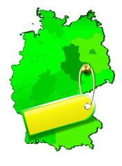 Deutschland, Deutschlandkarte 100% Natur, Bio