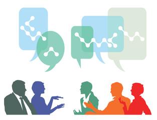 Leute diskutieren und planen