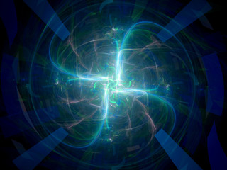 Four plasma rays fractal artwork