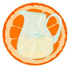 Orange With Slice.