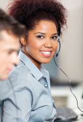 Customer Service Representative Working In Office