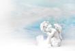 Leinwanddruck Bild - Träumender Engel: Glückwunschkarte