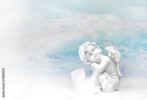 Träumender Engel: Glückwunschkarte - 78699275