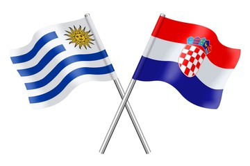 Flags: Uruguay and Croatia