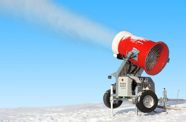Snowmaking is the production of snow  on ski slopes.
