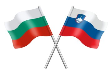 Flags: Bulgaria and Slovenia
