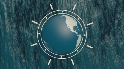 earth globe spin