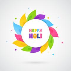 Happy Holi card template