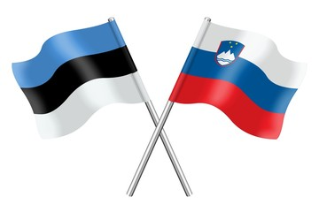 Flags: Estonia and Slovenia