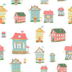 Cute cartoon houses
