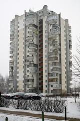 Winter in capital of Lithuania Vilnius city Seskine district