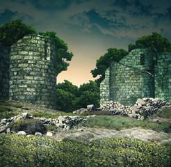 panorama e costruzione antica