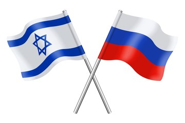 Flags: Israel and Russia