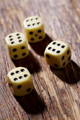 Sixes on dice