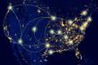 United States city lights - 78703493