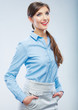 Business woman portrait. Smiling young student girl