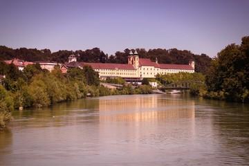 Lambach, Austria. Filtered color tone.