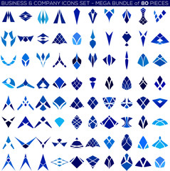 Business concept abstract icon set, shapes