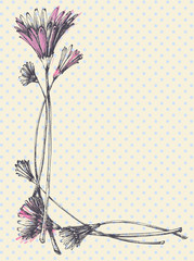 Hand drawn cute floral frame