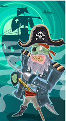 Zombie Pirate Ilustration