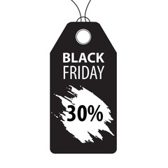 black friday lable with white blot on white background