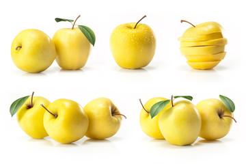 Composite of yellow golden apple